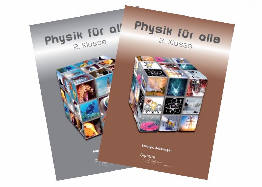 Covers von Physik für alle 2 und Physik für alle 3